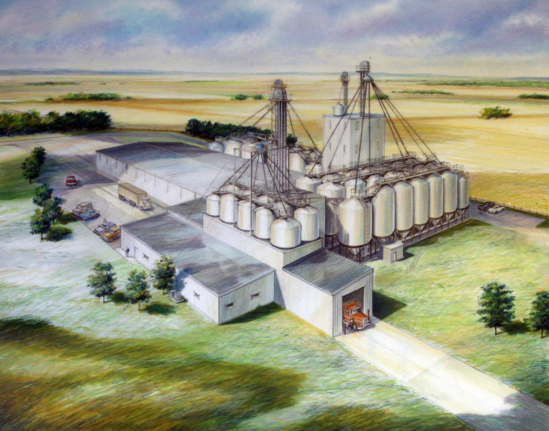 Illustration of seed facility in Idaho Falls, Idaho